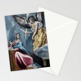 """El Greco (Domenikos Theotokopoulos) """"The Annunciation (1595-1600)"""" Stationery Cards"""