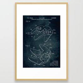 2000 - Operating device with analog joystick patent art Framed Art Print