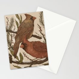 Wintery Cardinals Stationery Cards
