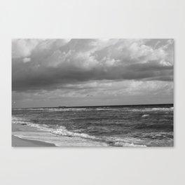 Sea in Black and White Canvas Print