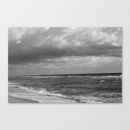 Sea in Black and White Canvas Print