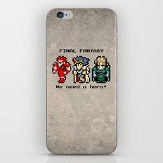 We Need A Hero iPhone Skin