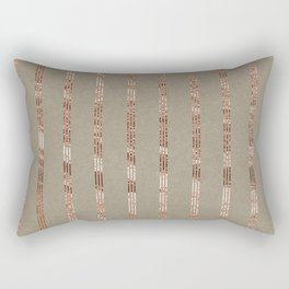Rose gold stripes on natural grain Rectangular Pillow