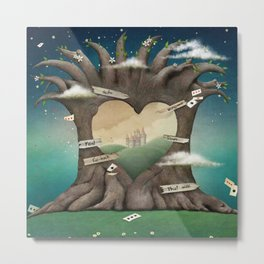 Gate Tree Love Palace Dream Metal Print