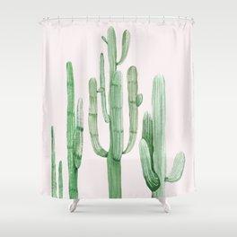 Three Amigos Pink + Green Shower Curtain