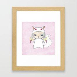 A Boy - Kyubey Framed Art Print