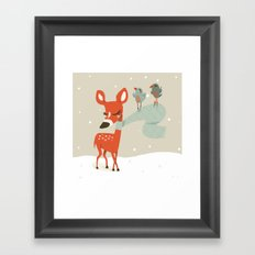 Winter Deer Framed Art Print