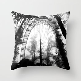 Forest Wheel Throw Pillow