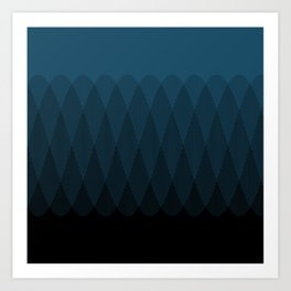 Blue to Black Ombre Signal Art Print