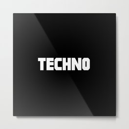 Techno rave music quote Metal Print