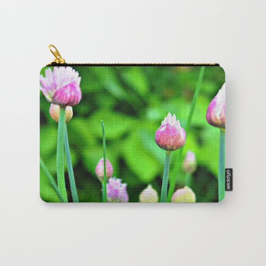 Flowering Chives Carry-All Pouch