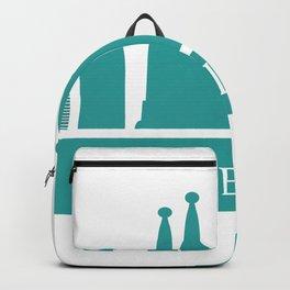 barcelona skyline Backpack