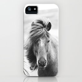 Horse Photograph in Iceland iPhone Case