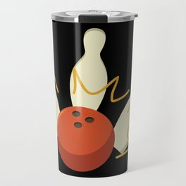 Vintage Retro Strike Bowling. - Gift Travel Mug