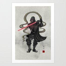 Darth Samurai Art Print