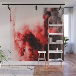 In Pain - Red And Black Abstract Wall Mural