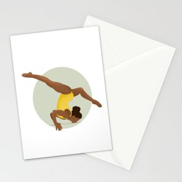 Gymnast in Color - Lean In Stationery Cards