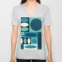 Abstract Color blocking 2 Unisex V-Neck