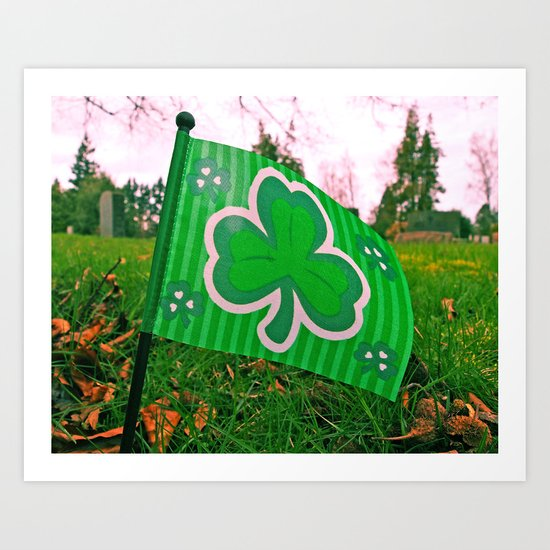 Shamrock flag Art Print