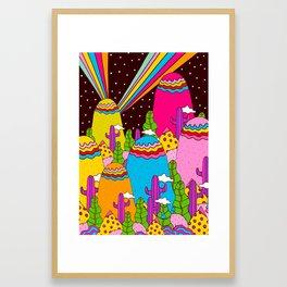 Night Sky Rainbows Framed Art Print