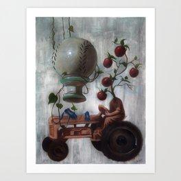 Morning Glories Art Print