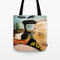 fear and loathing Tote Bags featuring Fear & Loathing by Lindsey Pudlewski