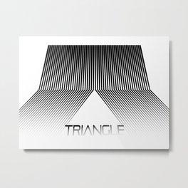 Abstraction 024 - Minimal Geometric Triangle Metal Print