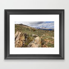Rocky Mountain Tundra and Clouds Framed Art Print