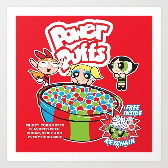 Power Puffs Cereal Art Print