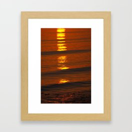 Coastal Abstract Framed Art Print