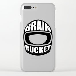 Brain bucket Clear iPhone Case