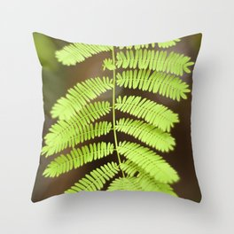 Vivid Small Green Leaves Throw Pillow