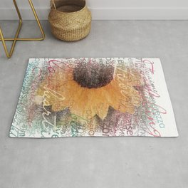 Words of Love Sunflower Rug