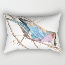 Lilac breasted roller Rectangular Pillow