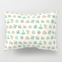 Choco Mint Rabbit Pillow Sham