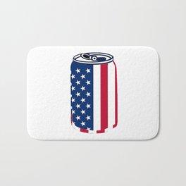 American Beer Can Flag Bath Mat