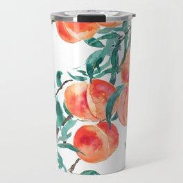 peach watercolor Travel Mug