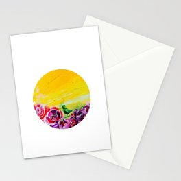 Hummingbird Heaven Summer Purple Flowers Stationery Cards