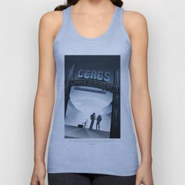 NASA Visions of the Future - Ceres, Queen of the Asteroid Belt Unisex Tank Top