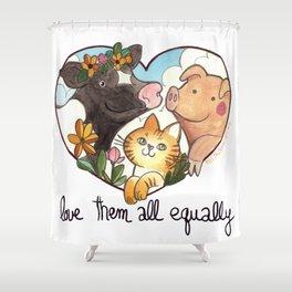 Animal love Shower Curtain