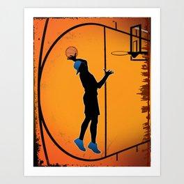 Basketball Player Silhouette Art Print