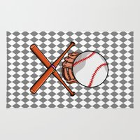 baseball Area & Throw Rugs featuring Baseball by mailboxdisco