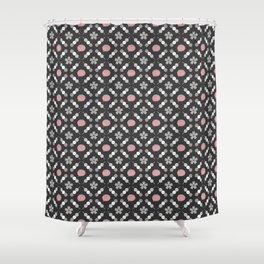 Hanami Nummies | Black Sakura Shower Curtain