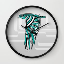 Hawk Deco II Wall Clock