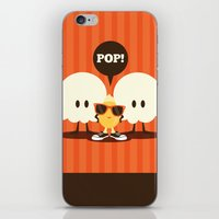 pop art iPhone & iPod Skins featuring Pop! by Steph Dillon
