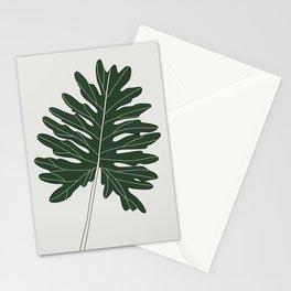 Philodendron Xanadu Leaf Illustration Stationery Cards