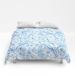 Mermaid Toile - Blue Comforters