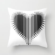 BLACK HEART Throw Pillow
