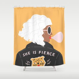 She Is Fierce Shower Curtain