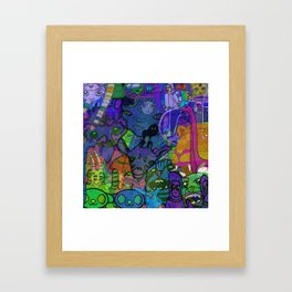 MULTIVERSE MURAL Framed Art Print